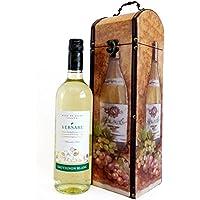 Versare Vino Blanco 750ml en Estilo Antiguo Caja de Vino de Madera - Ideas de Regalo