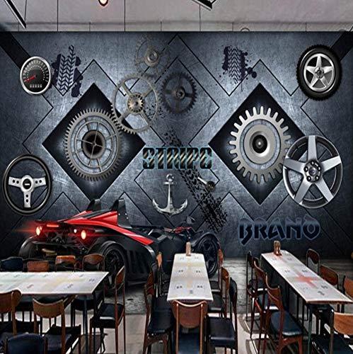 f1997d6f200661 Meaosy Papel Tapiz Fotográfico Custom European Steel Plate Locomotive Gear  Mural Bar Shop Wallpaper Ktv Mural