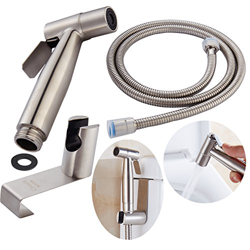 CIENCIA Hand Held Bidet Sprayer Premium Stainless Steel Sprayer Shattaf - Complete Bidet Set for Toilet, Hand Bidet Sprayer for Toilet WS024S Test