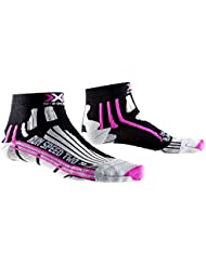X-Socks Run Speed Two Lady - Calza Running, Donna, Nero (Black/Fuchsia), 37/38