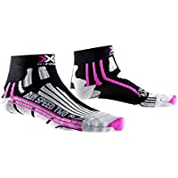 X-Socks X020436B048 - Calcetines (Calcetines clásicos, Negro, Violeta, Blanco, Adultos, Femenino, 37-38, Correr)