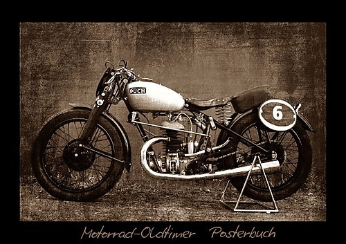Motorrad Oldtimer Posterbuch (Posterbuch DIN A4 quer): Motorrad Oldtimer Fotokunst (Posterbuch, 14 Seiten) (CALVENDO Mobilitaet) [Papeterie] [Jun 10, 2013] Siebenhühner, Gabi