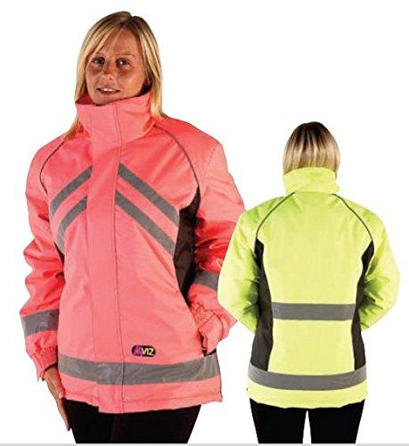 Y-H HyVIZ Reitjacke wasserdicht Riding Jacken Gelb oder Pink XS pink/schwarz