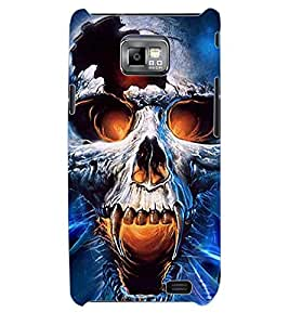 ColourCraft Skull Back Case Cover for SAMSUNG GALAXY S2 I9100