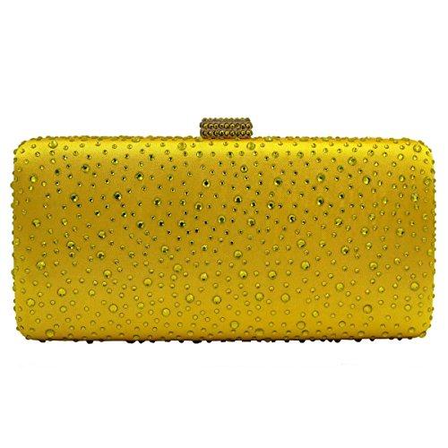 Sera Borsa Di Diamanti Borsa Festa Nuziale Delle Donne Yellow