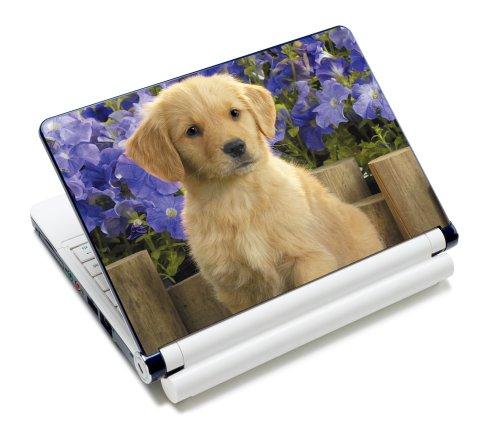 (Luxburg® Design Aufkleber Schutzfolie Skin Sticker für Notebook Laptop 10 / 12 / 13 / 14 / 15 Zoll, Motiv: Süßer Welpe)