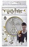 Harry Potter Schlüsselring and Pin Badge Set Deathly Hallows Emblem Nue