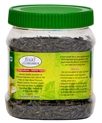H-Sure-200-gm-Assam-Natural-Organic-Herbal-Loose-Leaf-Green-Tea-for-Weight-Loss-Fast-for-Men-Women-Unflavoured