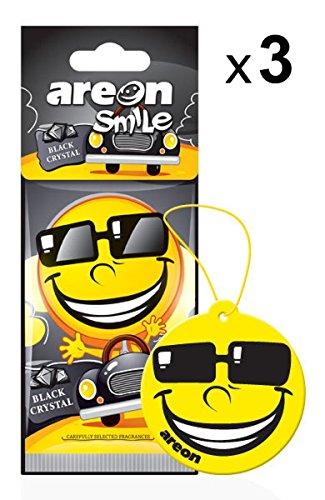 AREON Smile Deodorante Auto da Appendere Specchietto Retrovisore Divertenti Set 3