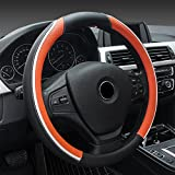 Leather Steering Wheel Cover,ECLEAR Universal 15 inch/38CM...