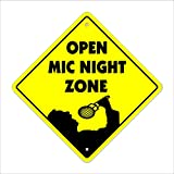 Zona Openmic Crossing Sign Xing | indoor/outdoor | Altezza 30,5 cm parola Commedia scherzi Comedian musica karaoke Club