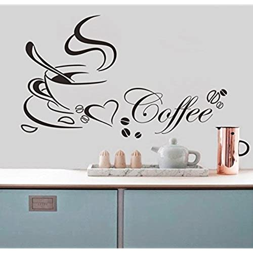 Chinatera Coffee Cup PVC Removable Room Decal Art DIY Wall Sticker Home  Decor