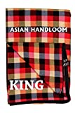 ASIAN HANDLOOM Cotton Mattress Protector with Zip, Multicolour Check Design, Full Double Bed