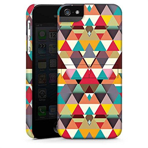 Apple iPhone X Silikon Hülle Case Schutzhülle Dreiecke Muster Hipster Premium Case StandUp