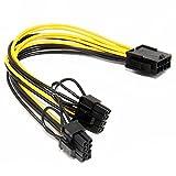 Tutoy Pcie 8Pin Auf Zwei 8-Polige Pci-Express-Grafik-Power-Connector-Kabel Für Video-Karten-Mining