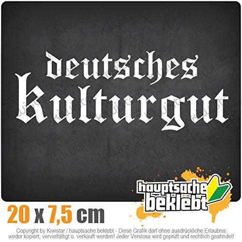 Deutsches Kulturgut Altdeutsch 20 x 7,5 cm IN 15 FARBEN - Neon + Chrom! Sticker Aufkleber