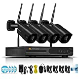 MPOM WLAN Sicherheits Überwachungskamerasystem Wireless 1080P 8 Kanal NVR und 8PCS CCTV IP Netzwerkkameras für den Außen oder Innenbereich, Fernsteuerungsansicht mit Festplatte