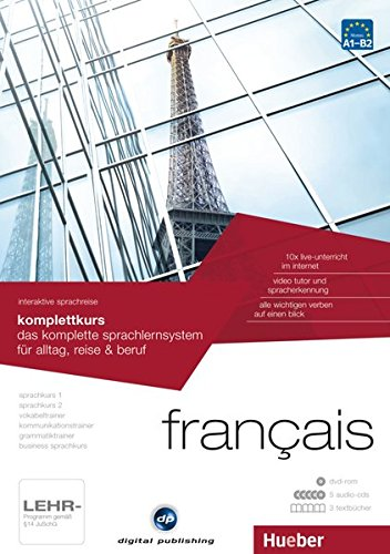 Preisvergleich Produktbild interaktive sprachreise komplettkurs français: das komplette sprachlernsystem für alltag, reise & beruf / Paket: 1 DVD-ROM + 5 Audio-CDs + 3 Textbücher