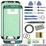 Acenix® schermo di ricambio Lens kit di riparazione per Samsung Galaxy S6Edge verde smeraldo + 2mm Nastro e strumenti di apertura di riparazione della leva