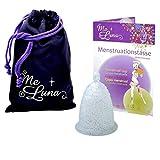 Me Luna Coupe menstruelle Classic, boule, bleu/paillettes, Taille L