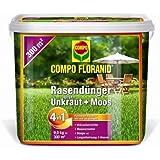Compo floranid–Fertilizante abono contra las malas hierbas + musgo 4en 1, 9kg