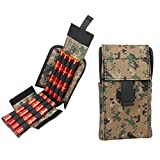 Kosibate Shotshell Pouch Carrier Tactical Molle Velcro Holder for Remington 870 Digital Camo Design