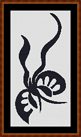 PARADISE BUTTERFLY - Carte de Point des Croix [ PDF par CD ] (Cross Stitch Chart / Pattern)