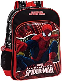 Spiderman 4452351 Mochila Escolar, 15.6 Litros, Color Rojo