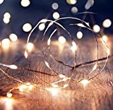 #8: Shining Decors 20 LED Battery Operated YELLOW Outdoor Indoor Waterproof FAIRY String Copper Wire Lights For Home, Good Friday, Party, Festivals,Wedding Decoration