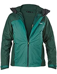 Berghaus hombres Fastrack 3-en-1 Triclimate chaqueta impermeable - verde Verde verde Talla:large