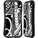 Head Case Designs Tourbillon Orné Tatouage Samoan Étui Coque Hybride pour Samsung Galaxy A3 (2016)