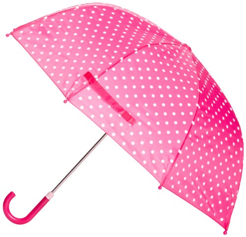 Playshoes 4010952241501 Regenschirm Punkte in pink, circa 70 cm
