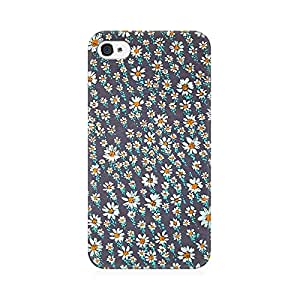 RAYITE Flower Hub Abstract Premium Printed Mobile Back Case Cover For Apple iPhone 4/4s