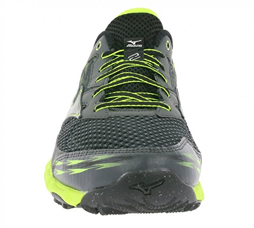 Mizuno Wave Hayate 2 Castle Rock Black Safety Yellow Schwarz