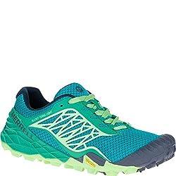 Merrell Womens All Out Terra Light Walking Shoes - Ss16 Bright Green 5 B(M) US