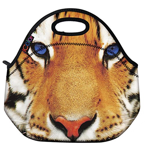 icolor-tiger-face-insulated-neoprene-lunch-bag-tote-handbag-lunchbox-food-container-gourmet-tote-coo