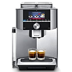 Siemens EQ.9 s700 TI917531DE Kaffeevollautomat (1500 Watt, Keramik-mahlwerk, 2 Bohnenbehälter, Großes TFT-Display, Baristamodus, integriertes Milchsystem) edelstahl