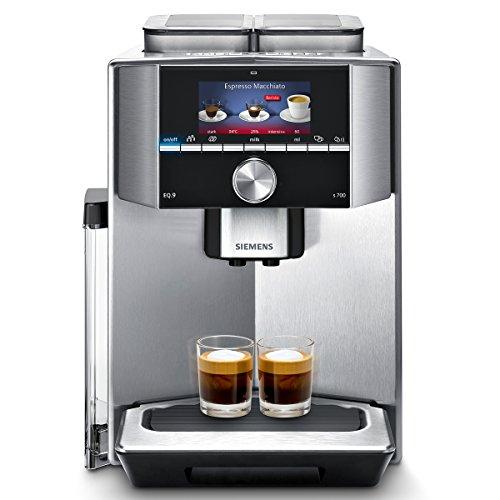 eq9 connect Siemens EQ.9 s700 TI917531DE Kaffeevollautomat (1500 Watt, Keramik-mahlwerk, 2 Bohnenbehälter, Großes TFT-Display, Baristamodus, integriertes Milchsystem) edelstahl
