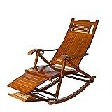 HhGold Vintage Freizeit Schaukelstuhl Bambus Chaiselongue für Bad Sonne (Farbe : -, Größe : -)