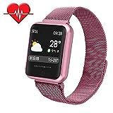 TechCode Relojes Inteligentes Mujeres, Activity Tracker Reloj con Monitor de Ritmo cardíaco Pulsera Inteligente Pulsera IP68 Smartwatch Sleep Monitor podómetro para iPhone Samsung Huawei
