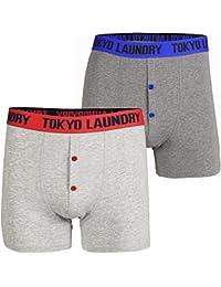 Tokyo Laundry Mens Hall (2 Pack) Cotton Rich Boxer Shorts Set