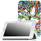 MoKo Samsung Galaxy Tab 3 Lite Funda - Ultra Slim Ligera Smart-shell Funda para Samsung Galaxy Tab 3 Lite T110 / T111 7.0 Inch Tablet, Lucky Tree (NO va a caber el Tab 4 7.0 o el Tab 3 7.0)