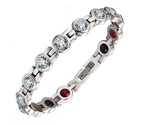 Sehr schönes Armband W306 4 Magnete Frauen Kristallen Saphir Apatit Swarovski Elements