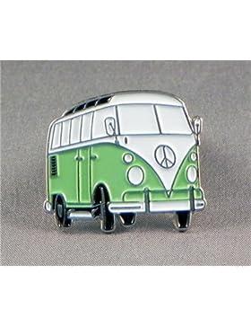 Metall Emaille Brosche hellgrün Volkswagen VW Camper Van Transporter