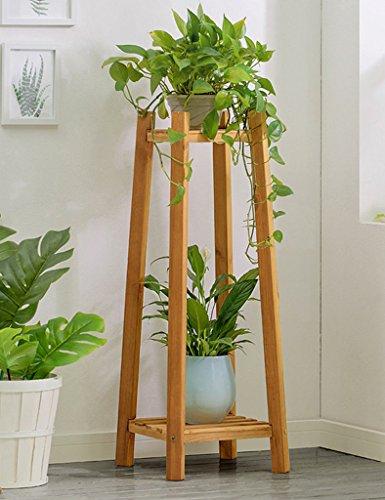 WSSF- Fleur Rack Creative Salon En Bois Fleur Présentoir Multi-couche En Bois Massif Balcon Fleur Pot Taille De L'étagère En Option (taille : 30 * 30 * 90cm)