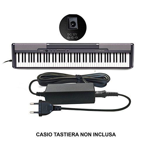 ABC Products® Sostituzione Casio DC 12V / 12V Volt, Alimentatore, alimentazione, Adattatore Cavo di alimentazione (AD-12M3, AD-12MLA(U), AD-12MLA, AD-12M, AD-12UL, AD-12, AD-12FL, FC2, TJ2) per Casio Synthesizers / Piano's / Keyboards / Tastiera (modelli indicati di seguito)