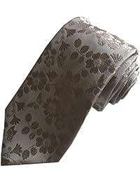 DUCHAMP London Mens 100% Silk Neck Tie Necktie Plain Floral Gold Made In England
