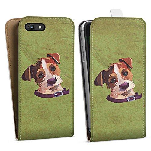Apple iPhone X Silikon Hülle Case Schutzhülle Jack Russell Hund Dog Downflip Tasche weiß