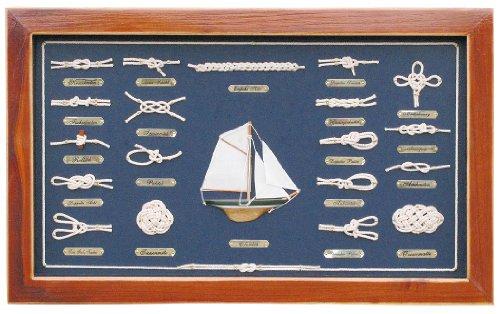 Knotentafel 51x31 cm Knotennamen in Deutsch