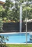 Astral Pool Pooldusche Angel Kalt Wasser mit Fußdüse Edelstahl Gartendusche Schwimmbaddusche